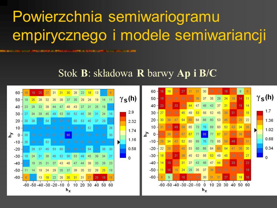 Powierzchnia semiwariogramu empirycznego i modele semiwariancji