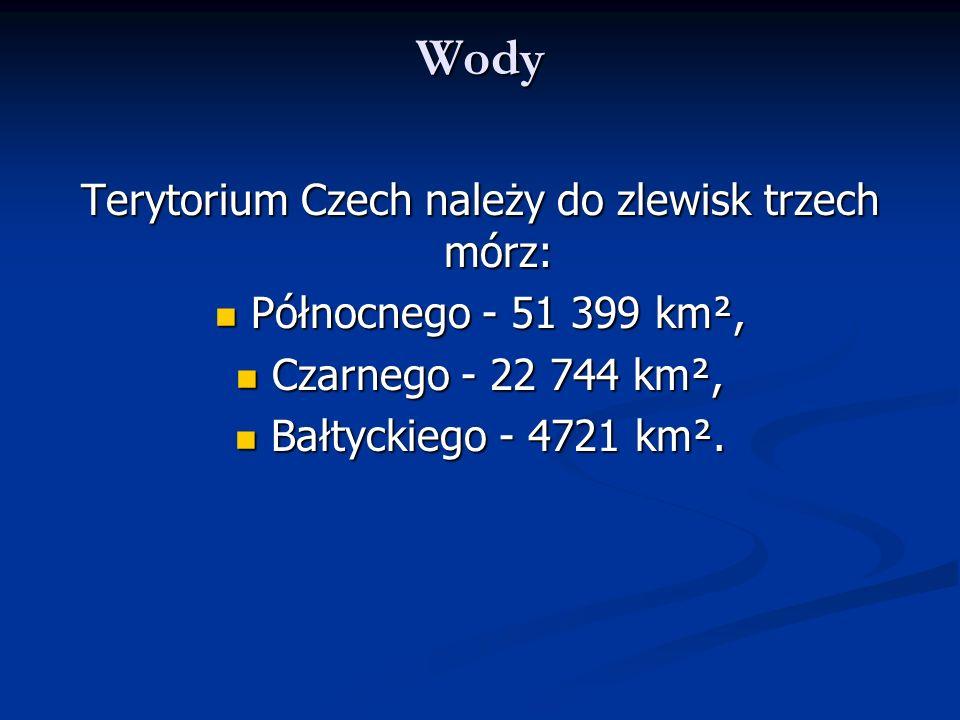 Terytorium Czech należy do zlewisk trzech mórz: