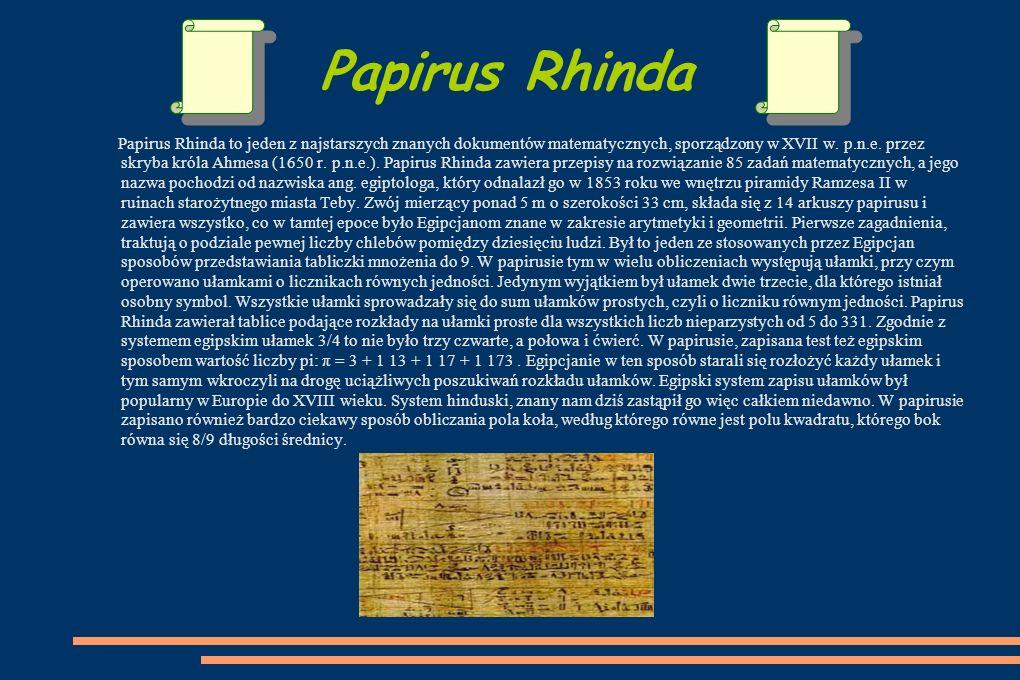 Papirus Rhinda