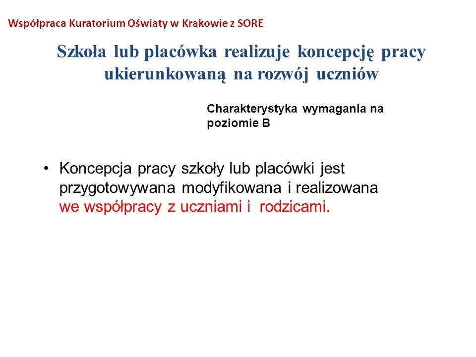 Współpraca Kuratorium Oświaty w Krakowie z SORE
