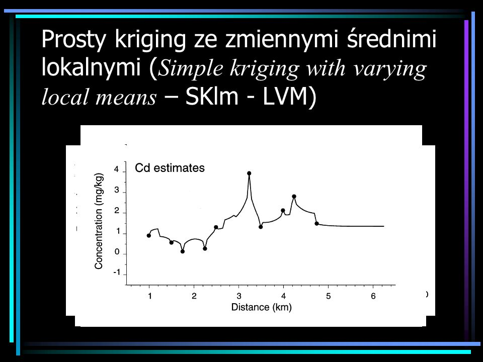 Prosty kriging ze zmiennymi średnimi lokalnymi (Simple kriging with varying local means – SKlm - LVM)