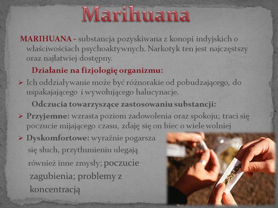 Marihuana zagubienia; problemy z koncentracją