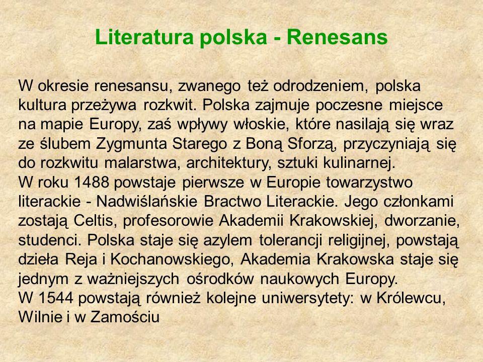 Literatura polska - Renesans