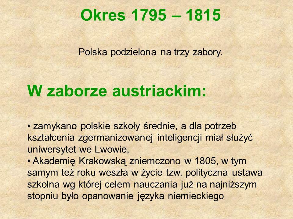 Polska podzielona na trzy zabory.