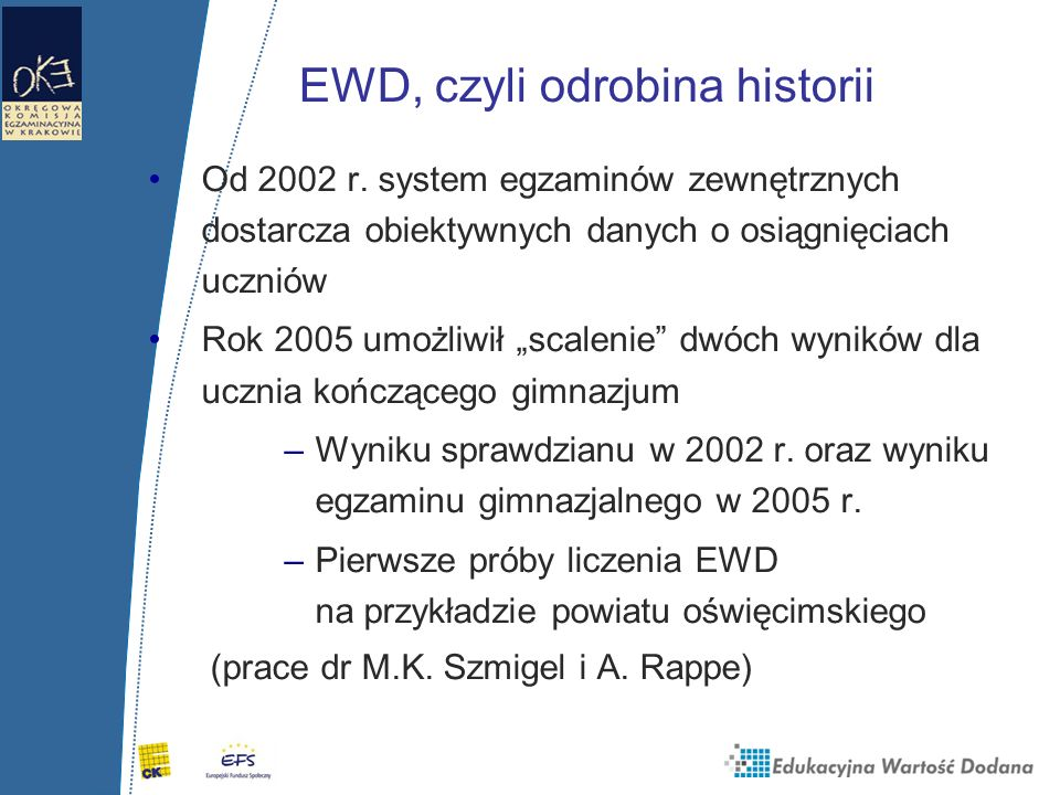 EWD, czyli odrobina historii