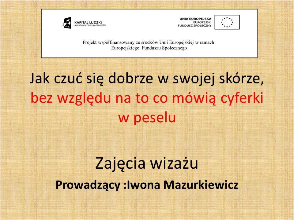 Zajęcia wizażu Prowadzący :Iwona Mazurkiewicz