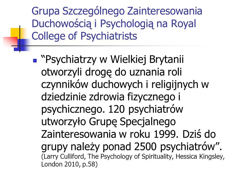 Grupa Szczególnego Zainteresowania Duchowością i Psychologią na Royal College of Psychiatrists