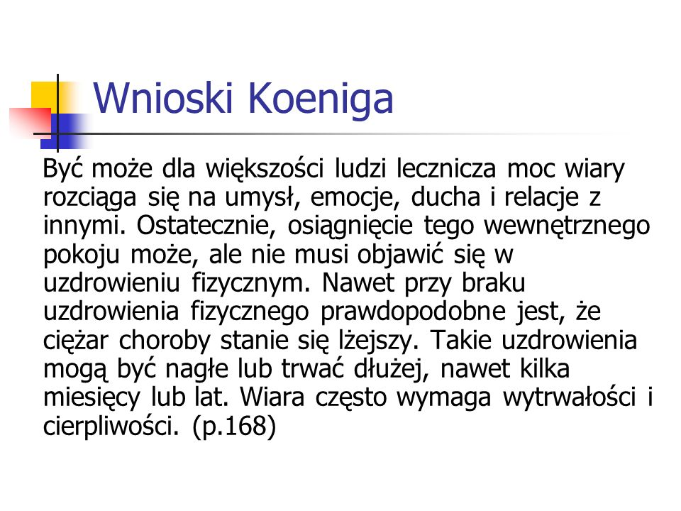 Wnioski Koeniga