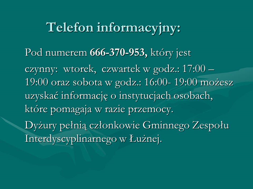 Telefon informacyjny: