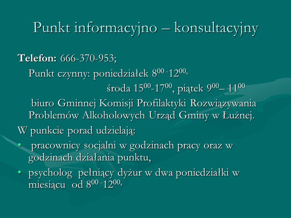 Punkt informacyjno – konsultacyjny