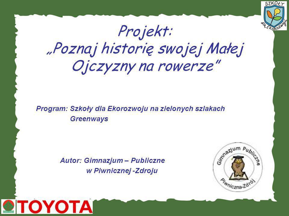 """Projekt: """"Poznaj historię swojej Małej Ojczyzny na rowerze"""