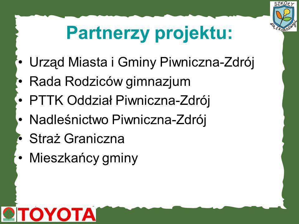 Partnerzy projektu: Urząd Miasta i Gminy Piwniczna-Zdrój
