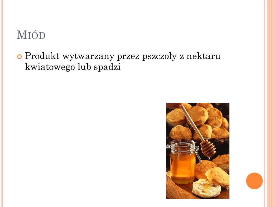 Miód Produkt wytwarzany przez pszczoły z nektaru kwiatowego lub spadzi