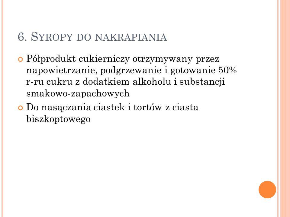 6. Syropy do nakrapiania