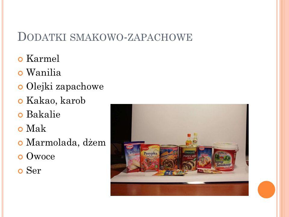 Dodatki smakowo-zapachowe