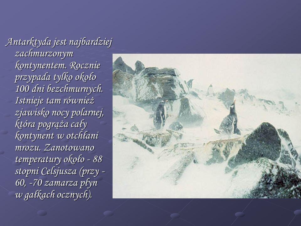 Antarktyda jest najbardziej zachmurzonym kontynentem