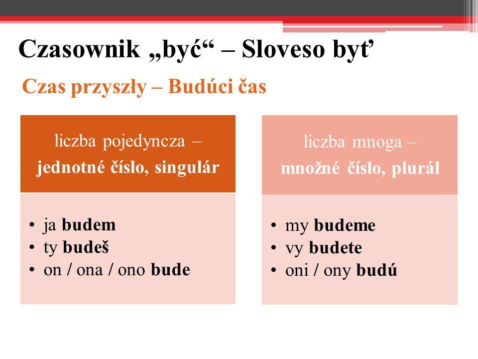 "Czasownik ""być – Sloveso byť"
