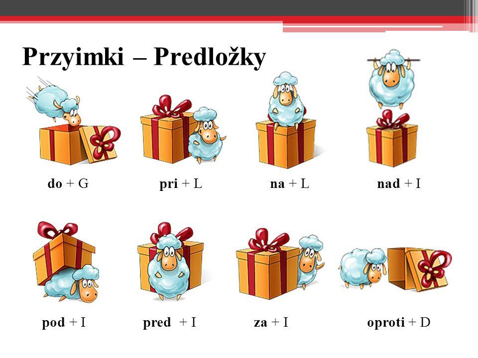 Przyimki – Predložky do + G pri + L na + L nad + I pod + I pred + I
