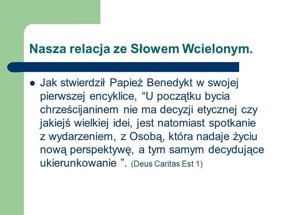 Nasza relacja ze Słowem Wcielonym.