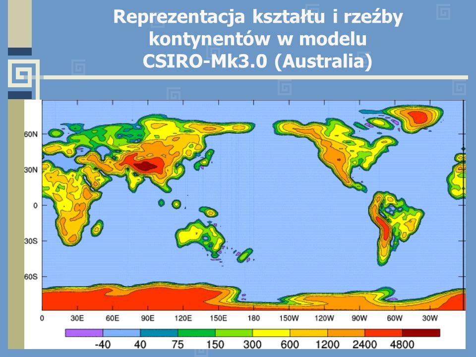 Reprezentacja kształtu i rzeźby kontynentów w modelu CSIRO-Mk3