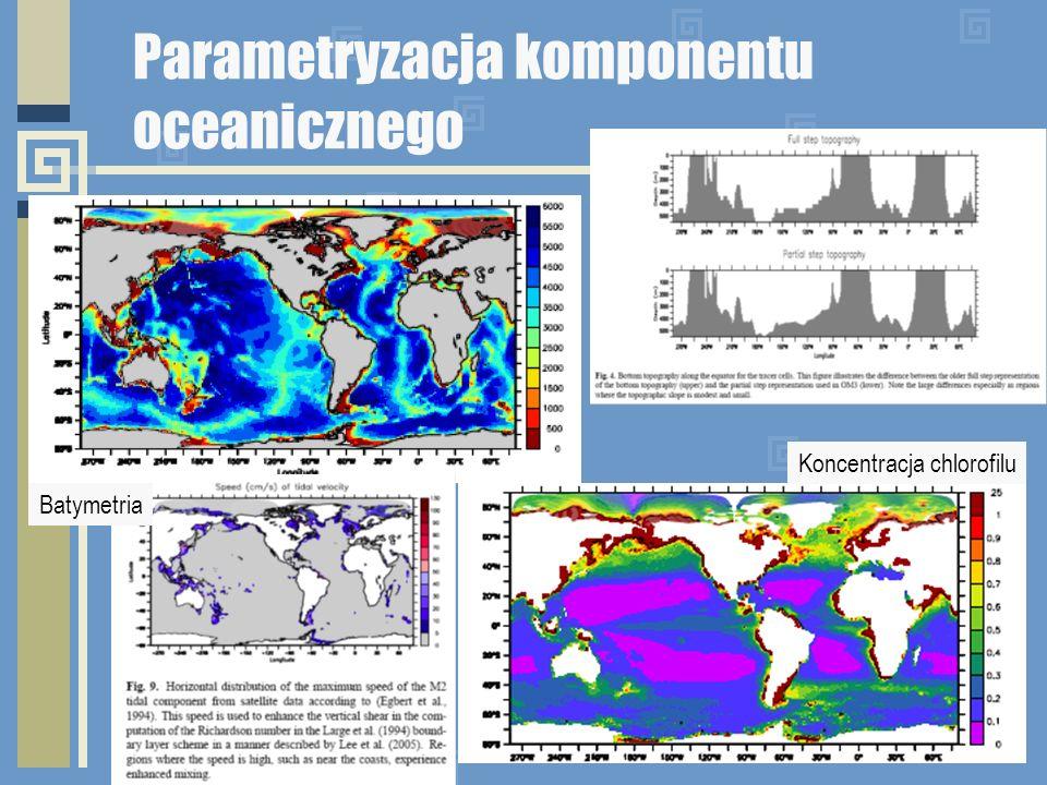 Parametryzacja komponentu oceanicznego