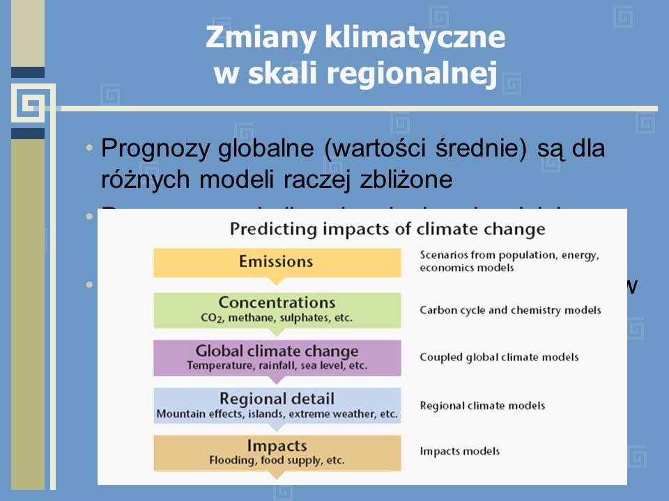 Zmiany klimatyczne w skali regionalnej