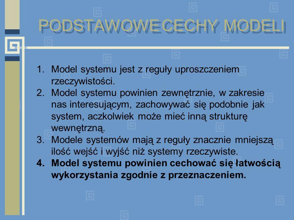 PODSTAWOWE CECHY MODELI
