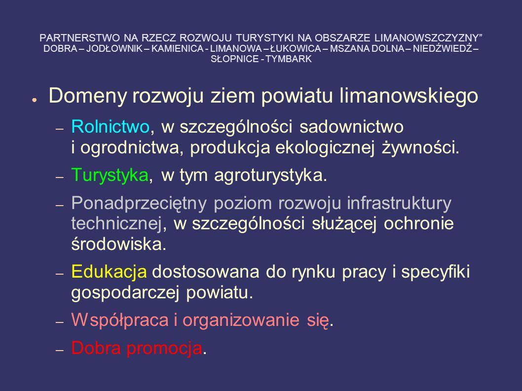 Domeny rozwoju ziem powiatu limanowskiego