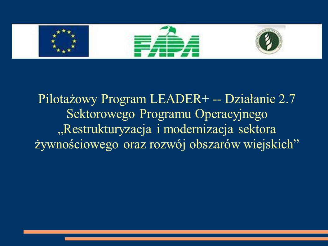 Pilotażowy Program LEADER+ -- Działanie 2.7