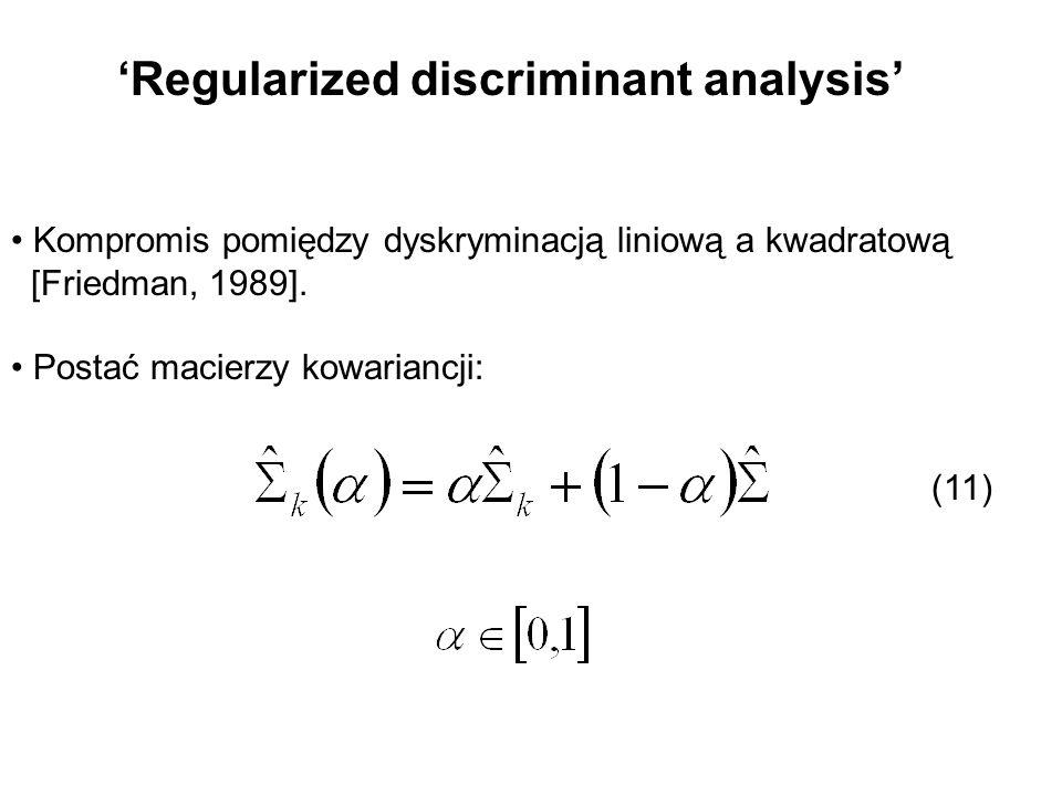 'Regularized discriminant analysis'