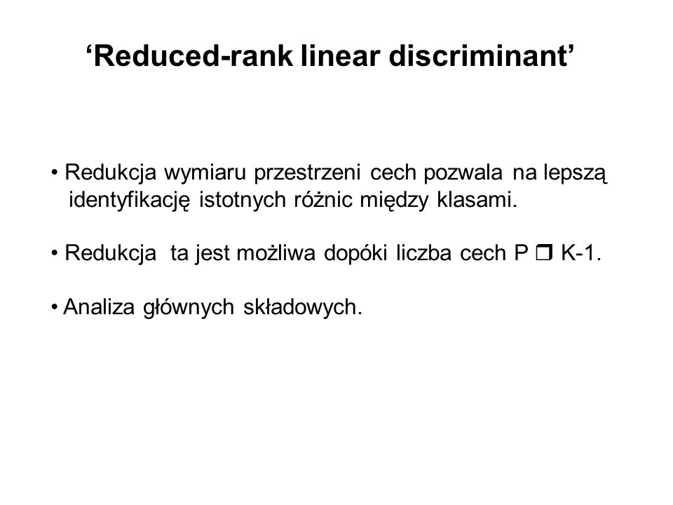 'Reduced-rank linear discriminant'