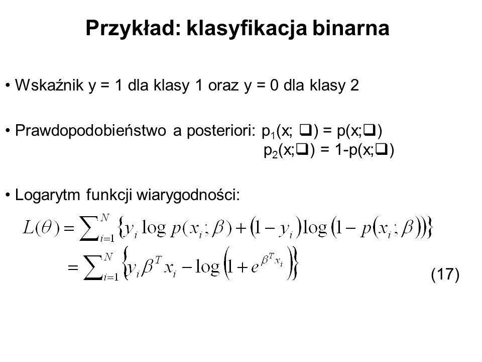 Przykład: klasyfikacja binarna