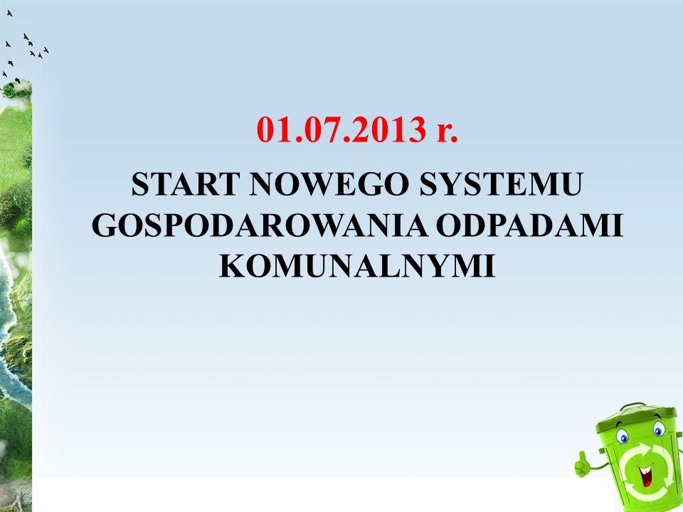 START NOWEGO SYSTEMU GOSPODAROWANIA ODPADAMI KOMUNALNYMI