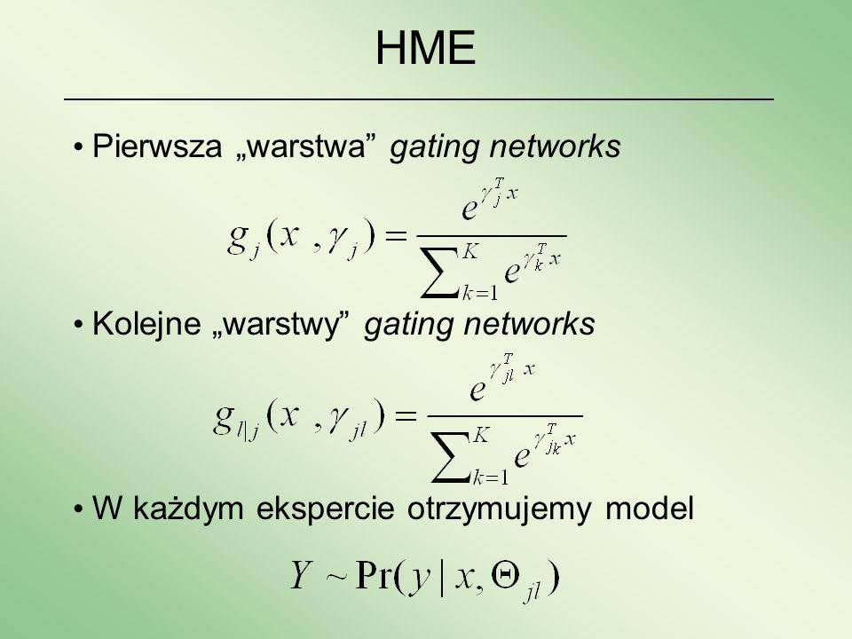 """HME Pierwsza """"warstwa gating networks"""
