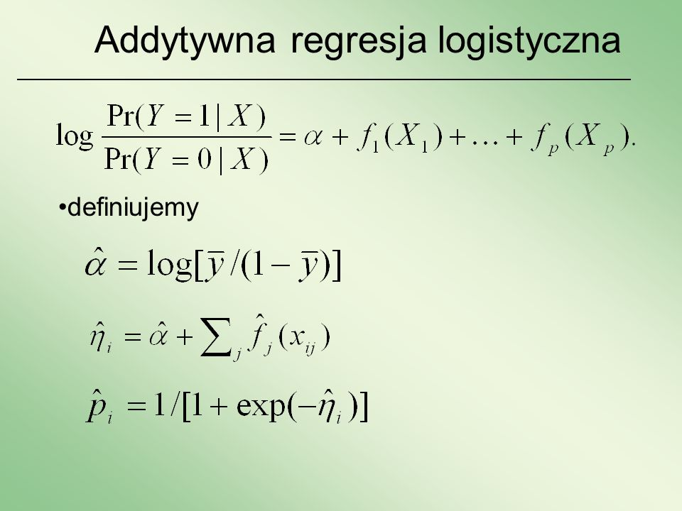 Addytywna regresja logistyczna
