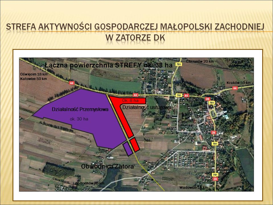 Łączna powierzchnia STREFY ok. 38 ha