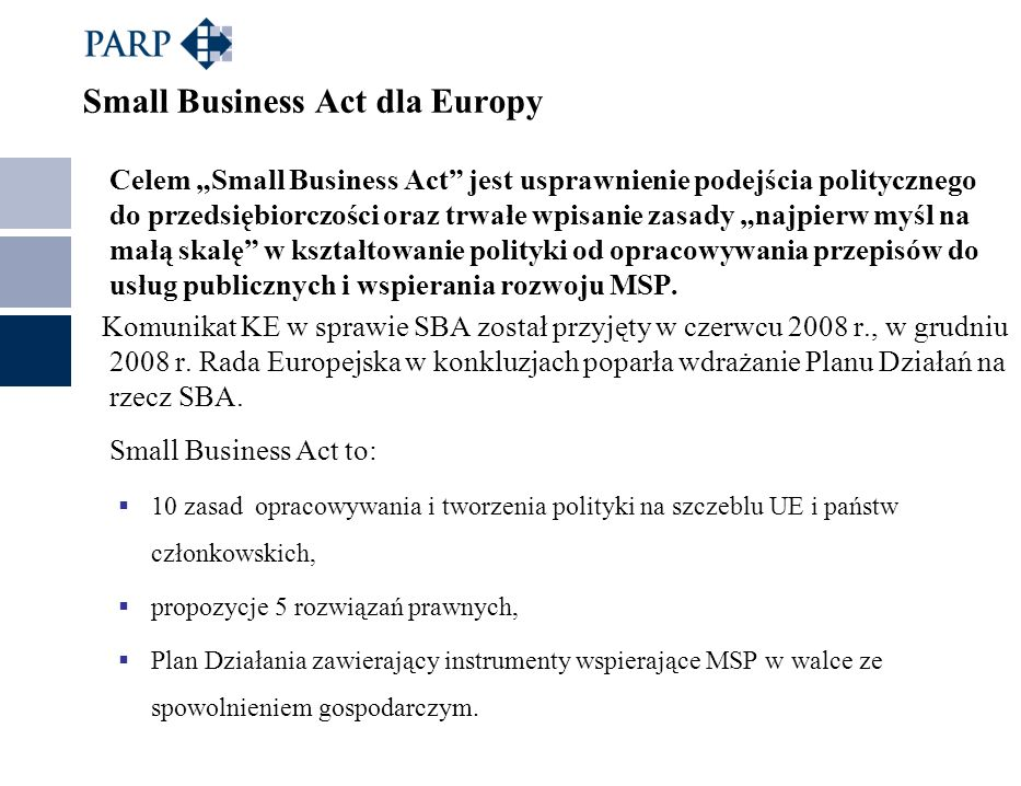 Small Business Act dla Europy