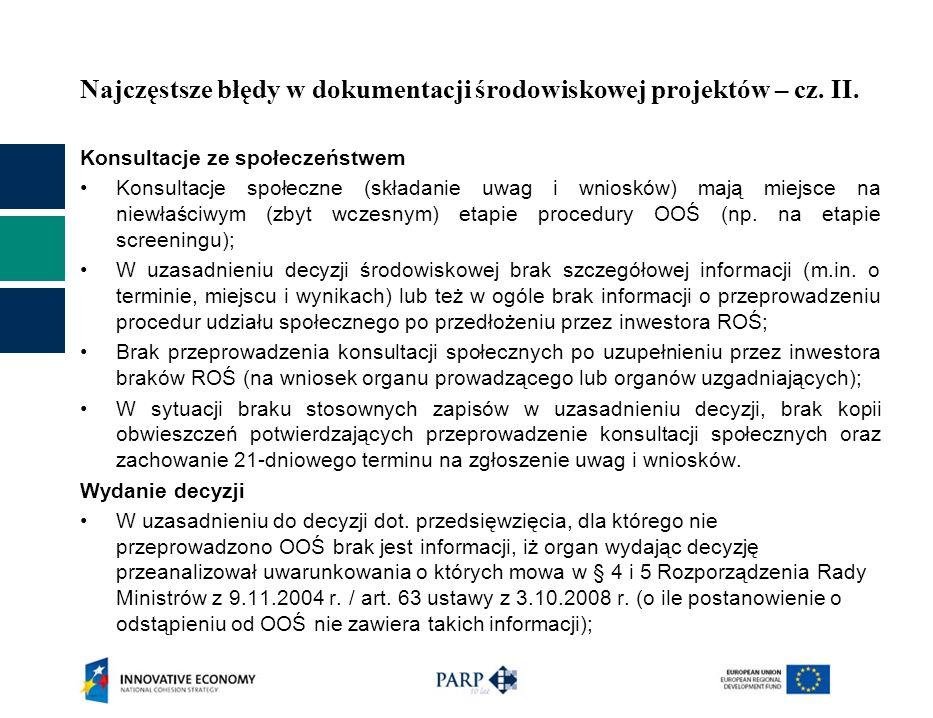 Najczęstsze błędy w dokumentacji środowiskowej projektów – cz. II.