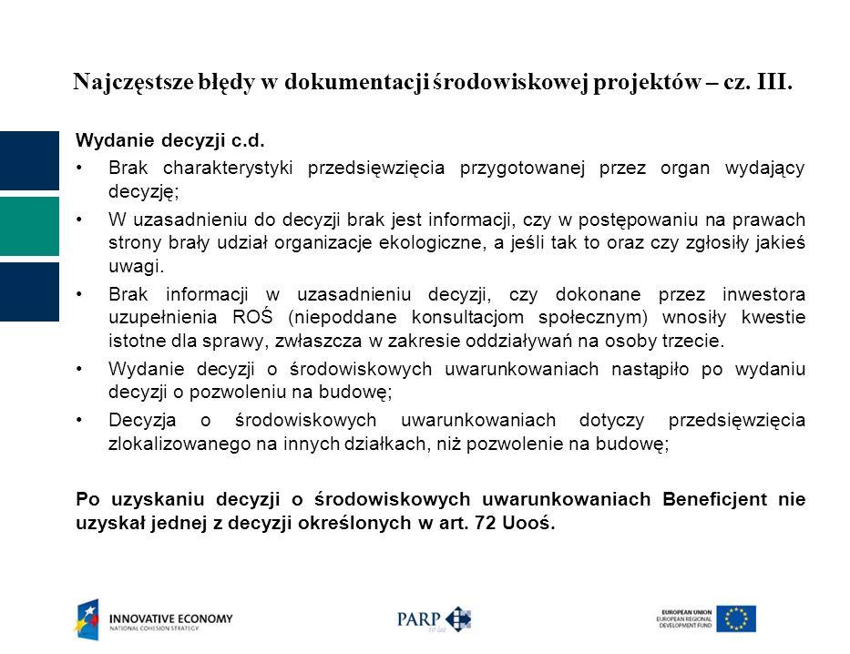 Najczęstsze błędy w dokumentacji środowiskowej projektów – cz. III.
