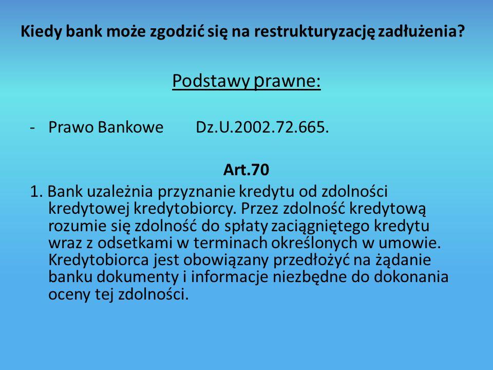 Kiedy bank może zgodzić się na restrukturyzację zadłużenia
