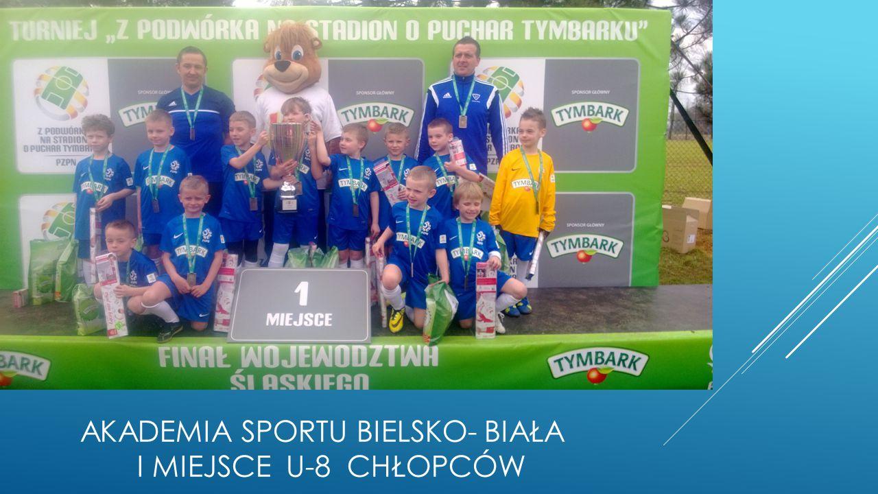 AKADEMIA SPORTU Bielsko- biała I miejsce u-8 chłopców