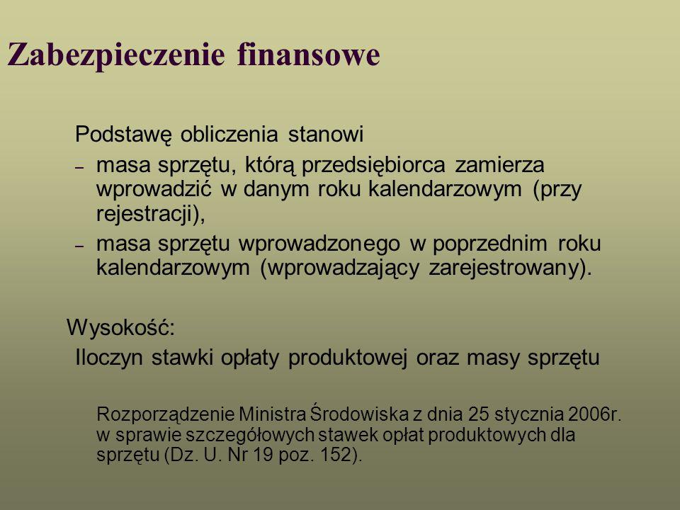 Zabezpieczenie finansowe