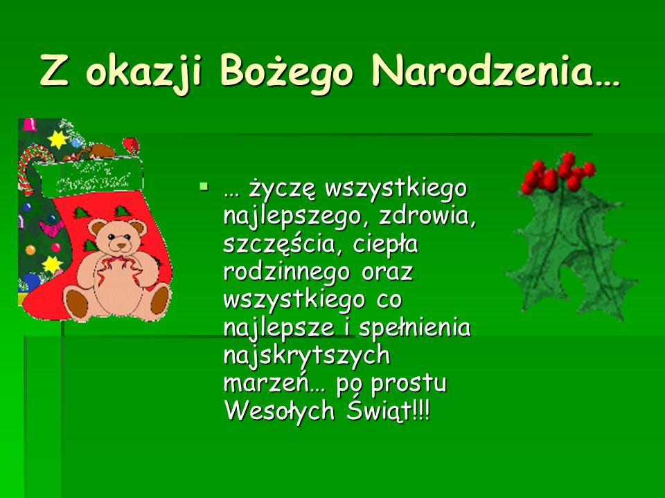 Z okazji Bożego Narodzenia…