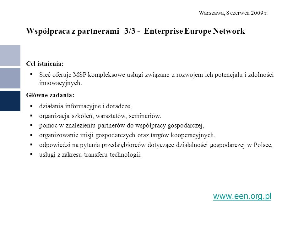 Współpraca z partnerami 3/3 - Enterprise Europe Network