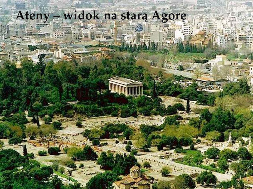 Ateny – widok na starą Agorę