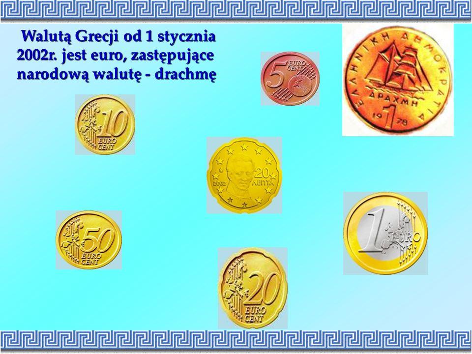 Walutą Grecji od 1 stycznia 2002r