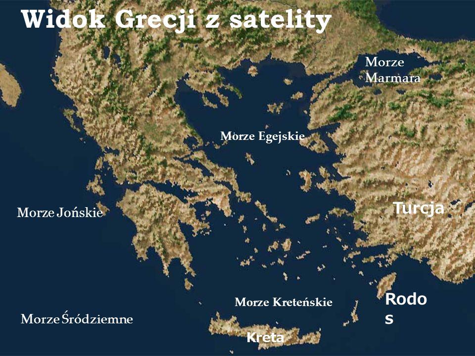 Widok Grecji z satelity