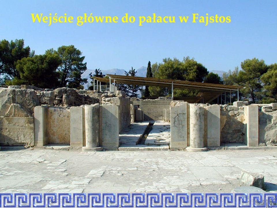 Wejście główne do pałacu w Fajstos