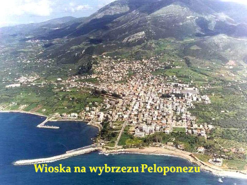 Wioska na wybrzezu Peloponezu