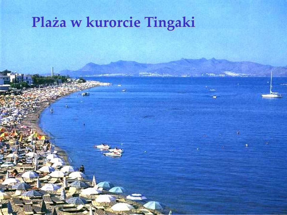 Plaża w kurorcie Tingaki